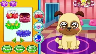 Онлайн игра Уход за маленькими животными щенок
