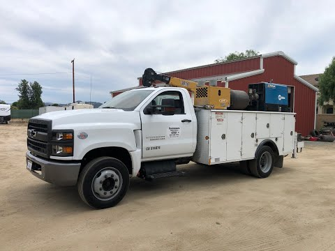 2019 Chevrolet 5500 HD with IMT Body and Crane