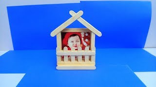 Easy Photo Frame with Popsicle | Ice cream sticks