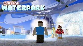 Roblox / Roblox WaterPark Game Play / Divirtiéndose en el Parque Acuático! / Gamer Chad Juega