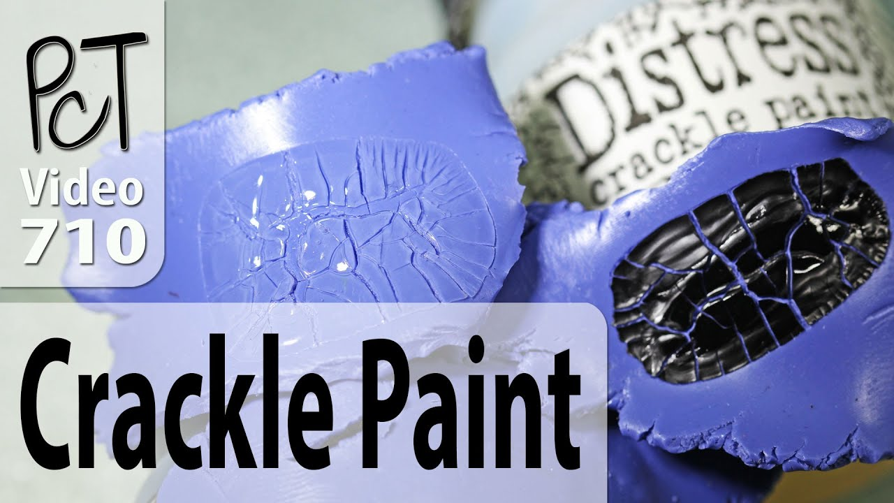 tim holtz distress crackle paint on polymer clay update