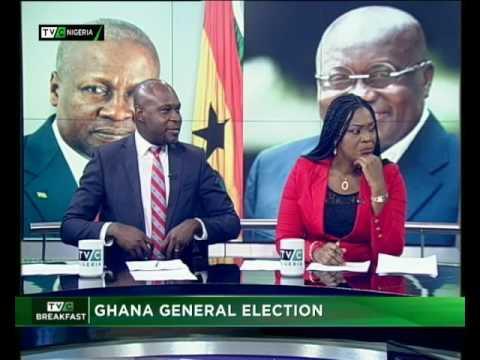 Ghana Election | Nana Akufo Ado - President | Breakfast Show|  Ayodele Ozugbakun| TVC N