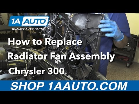How to Replace Install Radiator Fan Assembly 2005-10 Chrysler 300