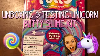 UNBOXING & TESTING Unicorn Putty SLIME KIT || Minion Loomer