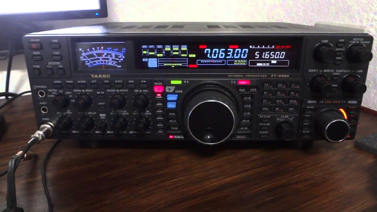 PY1RY FT-2000 RX 40M - YouTube