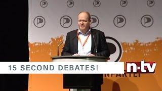 15 Sekunden müssen reichen. Die kürzesten Debatten zur Bundestagswahl - Bernd Schlömer