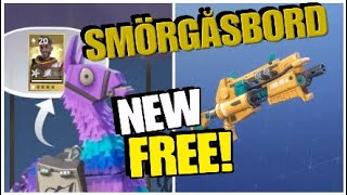Opening FREE! Upgrade and Smörgåsbord Llamas (Fortnite Save The World)
