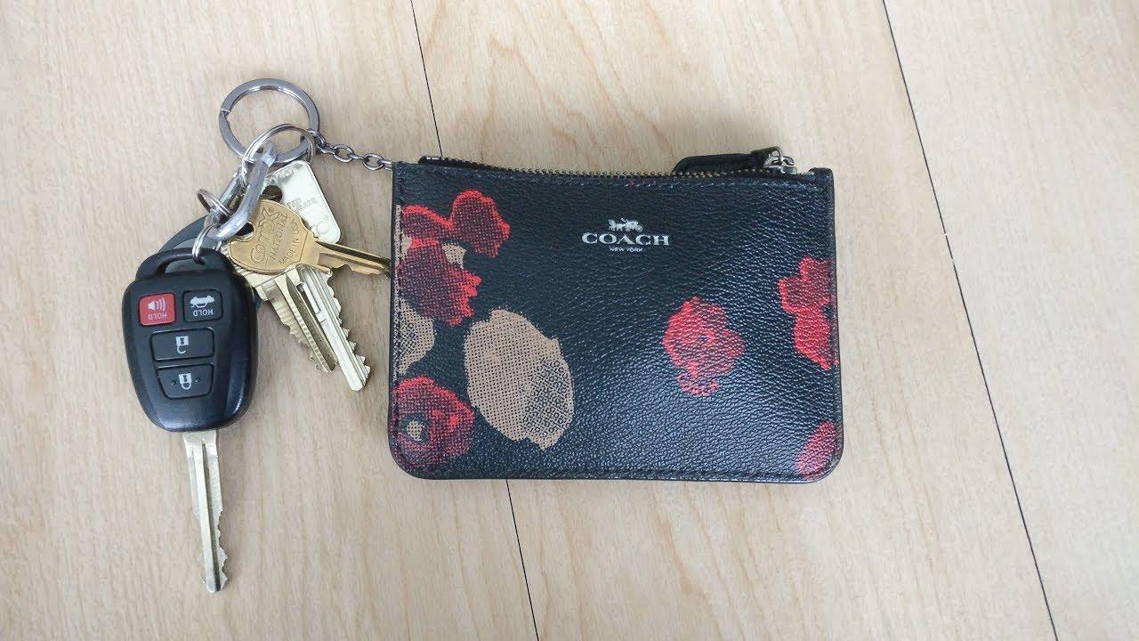 060fac90f815 Do Car Keys Fit??: Coach Floral Key Pouch