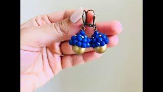 How to make beaded bead cap. Beaded Earrings DIY beaded earrings