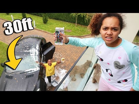 iPhone PRANK ON MY DAD!!