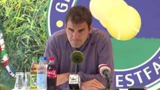 Gerry Weber Open 2013 Presser with Roger Federer after QF