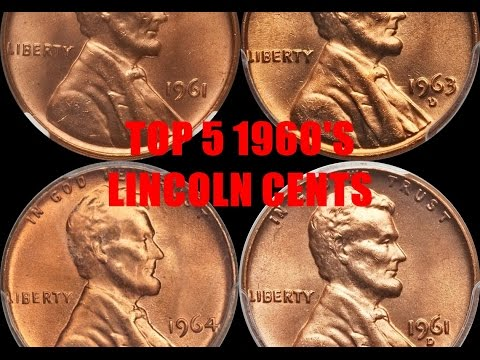 TOP 5 1960'S LINCOLN CENTS YOU SHOULD LOOK FOR IN CHANGE - High Grade Coins Sell for Over $13,000!