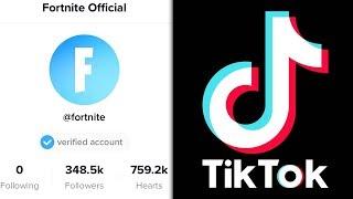 Fortnite Has A TIK TOK Account...