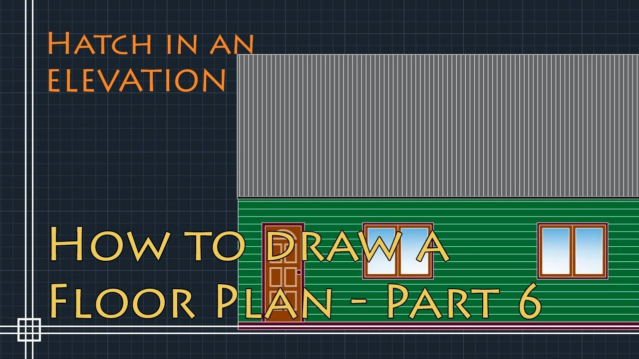 AutoCAD 2D Basics - Tutorial to draw a floor plan (fast and effective!)  PART 6 - Hatch