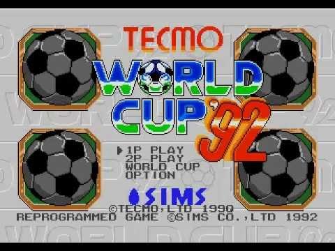 Tecmo World Cup '92 - (Mega Drive) - Completo