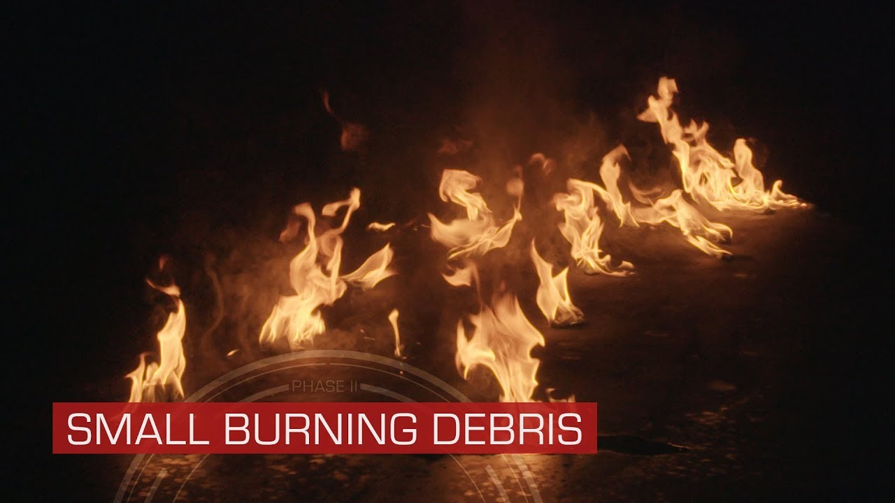 Small Burning Debris - Stock Footage Collection From ActionVFX
