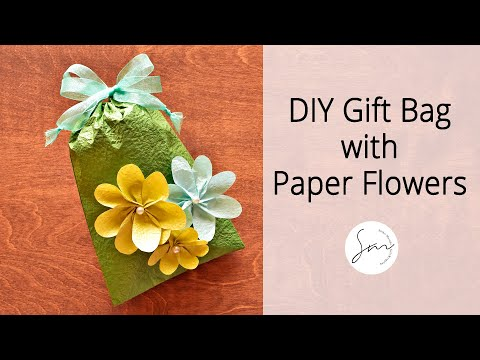 How to Make a Paper Pouch Bag and Decorative Paper Flowers