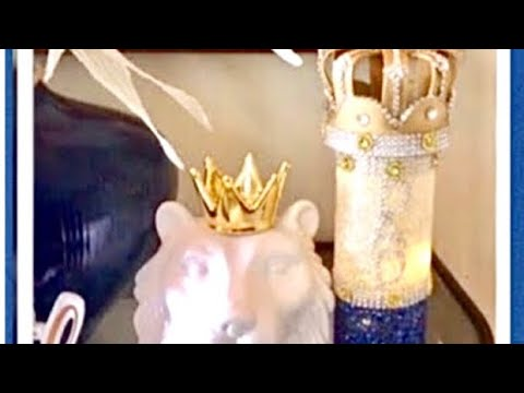 DIY Dollar Tree Centerpieces Royal Crown Father's Day Baby Shower Ideas Creating Elegance For Less
