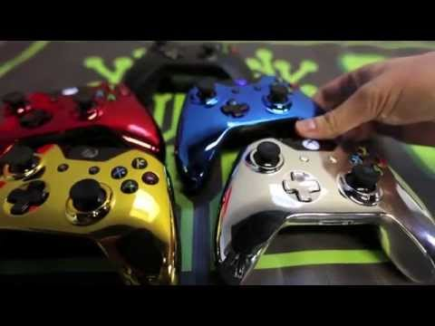 Chrome Xbox One Modded Controllers Gold, Blue, Red, Silver by Geniusmods: Chrome plated