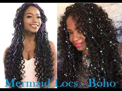Superline Mermaid Locs Bohemian Style Goddess Locs Crochet