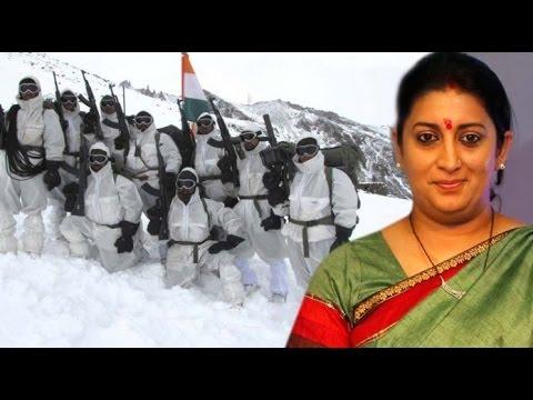 Smriti Irani Visits Siachen to Celebrate Raksha Bandhan with Army Jawans