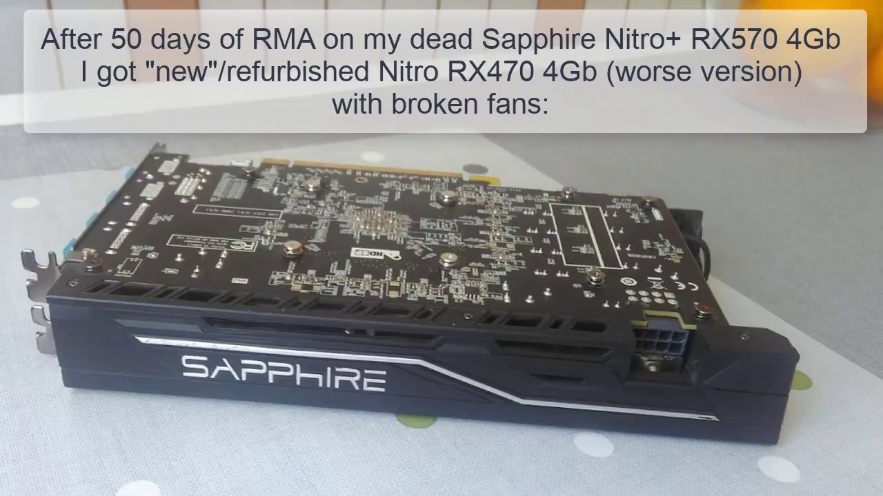 Sapphire Nitro RX noisy fans  How to get and replace them?
