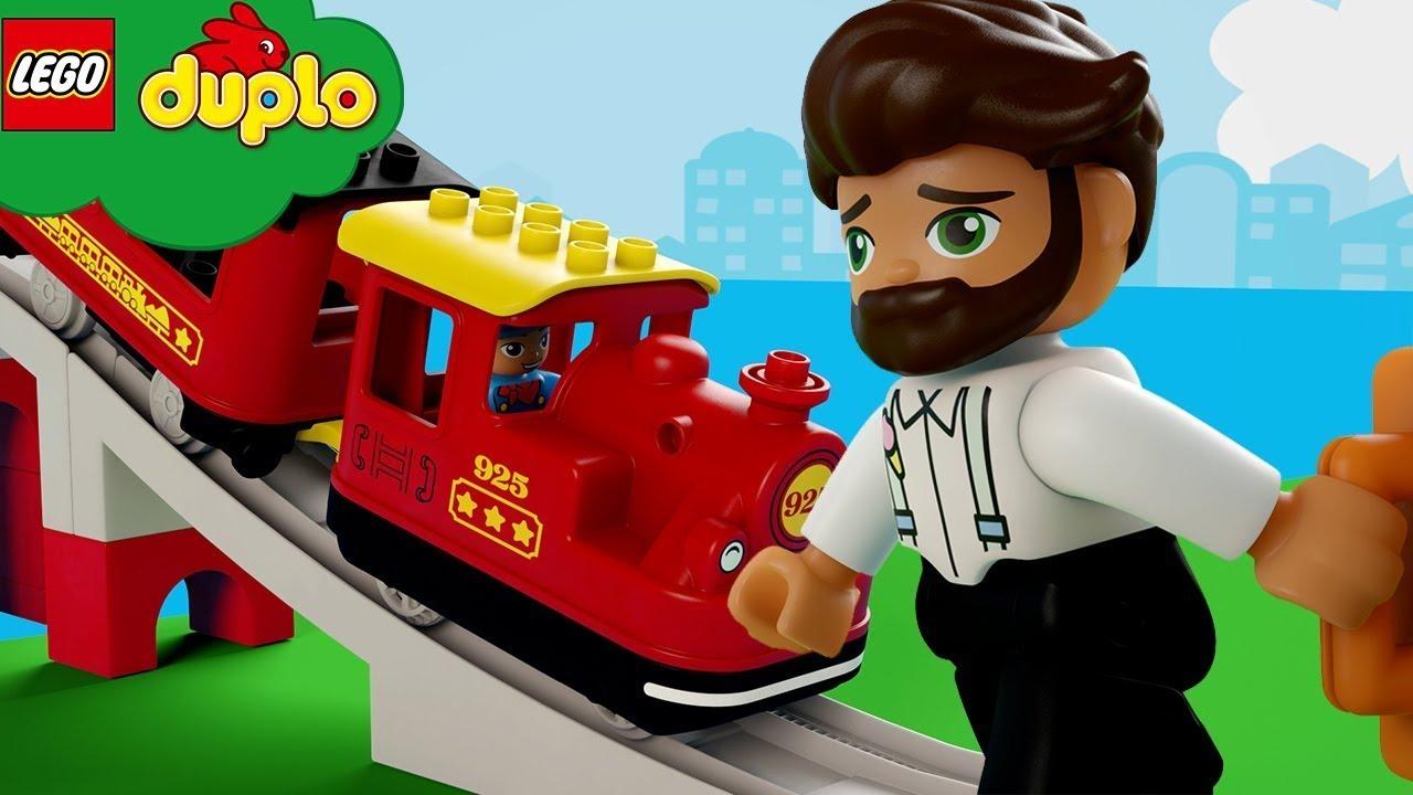 LEGO DUPLO | Das Zuglied | Kinderlieder und Cartoons | Moonbug Kids Deutsch