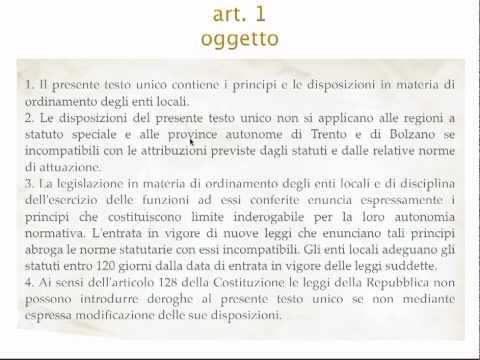 TUEL - articolo 1
