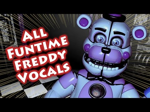 ALL FUNTIME FREDDY VOICE LINES | Custom Night & Night 2 Sister Location | w/ Subtitles