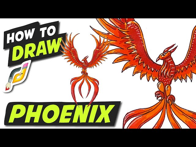 How to Draw PHOENIX - Fun Easy Step by Step Beginner