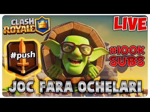 100k SUBS | Joc FARA OCHELARI | Clash Royale [LIVE#11]