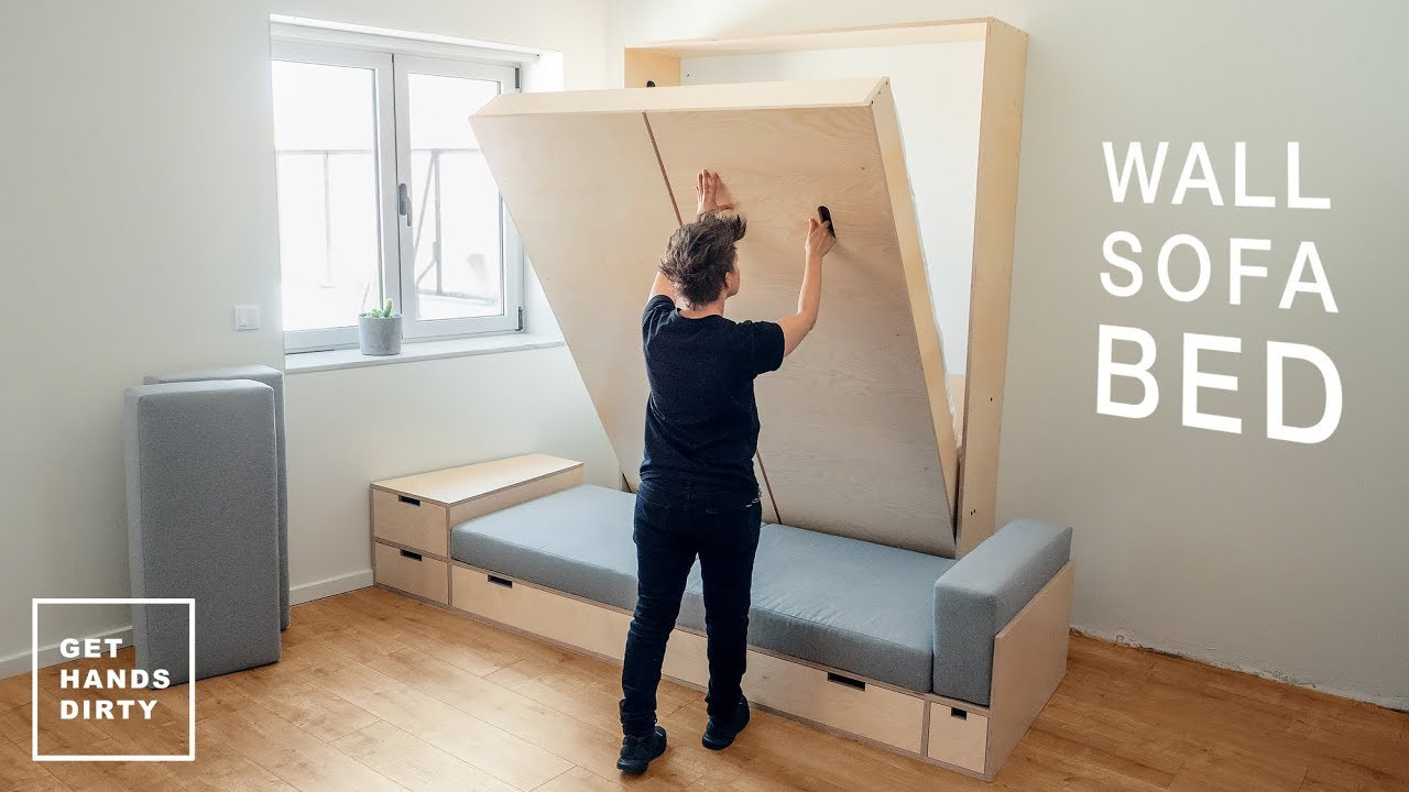 How To Make A Wall Sofa Bed System The Murphy Bed Tiny