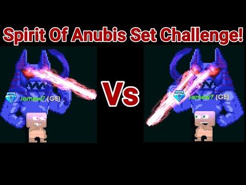 Spirit Of Anubis Set Challenge! OMG!! (NEWS SET) - Growtopia