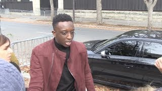EXCLUSIVE : Ahmed Sylla arriving at Vivement Dimanche recording in Paris