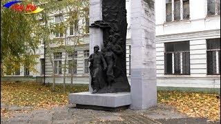 Памятник павшим в боях Великой Отечественной Войны преподавателям, студентам и сотрудникам - видео
