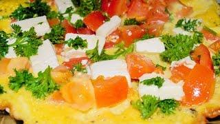 Омлет с помидорами и сыром. Домашние рецепты.