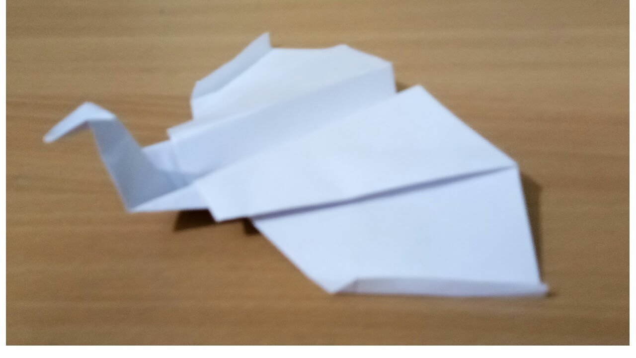 how to make a paper swan airplane youtube