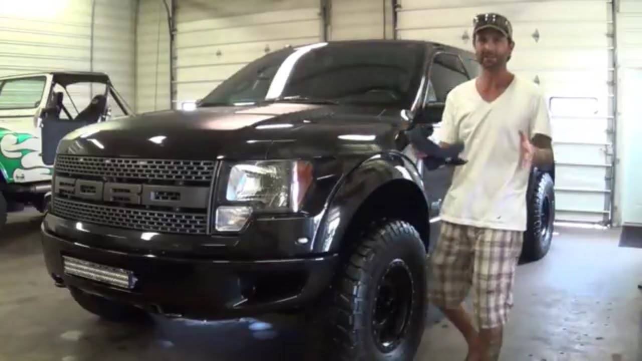 Custom Ford Raptor Presentation Paint Matched Fenders