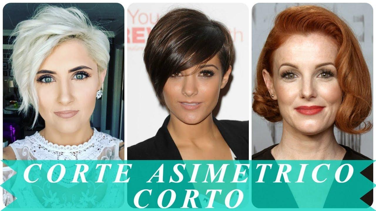 Corte de pelo asimetrico para mujer