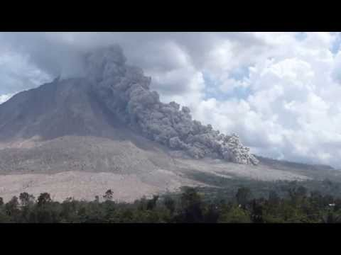 Pyroclastic flow on Sinabung volcano, Indonesia, 27 July 2015