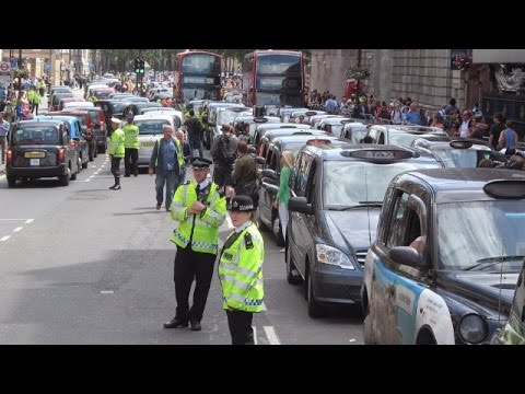LIVE: Anti-Uber protest hits central London