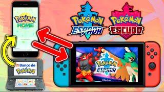 🆕🔥 ¡¡Como TRANSFERIR POKÉMON de Pokémon HOME a Pokémon ESPADA y ESCUDO!!