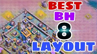 Builder Hall 8 BEST Base Layout w/PROOF | STRONGEST Anti 2 Star Bh8 Base 2018 |Clash of Clans
