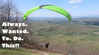 My First Stages of Paragliding! Running Off a Mountain