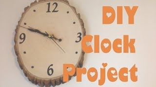 Diy Clock Project; Woodland Nursery Theme Clock
