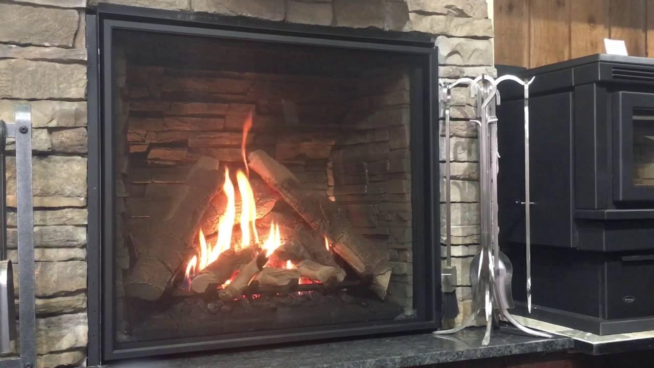 enviro q4 gas fireplace youtube