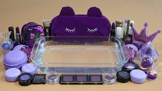 'Special Mega Purple' Mixing'Mega Purple''Eyeshadow,Makeup and glitter Into Clear Slime.