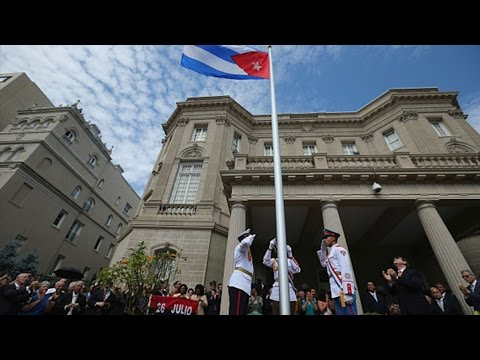 Cuban Flag Raised Over Diplomatic HQ in Washington