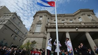 Cuban Flag Raised Over Diplomatic HQ in Washington