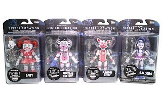 Five Nights at Freddy's Sister Location Collectible Articulated Action Figures Unboxing Toy Review